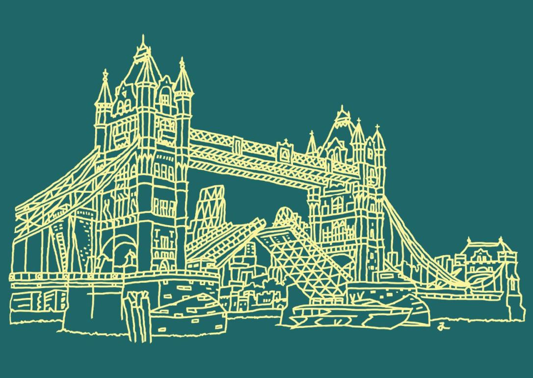 PA2 Tower Bridge (Vanilla on Slate Green)