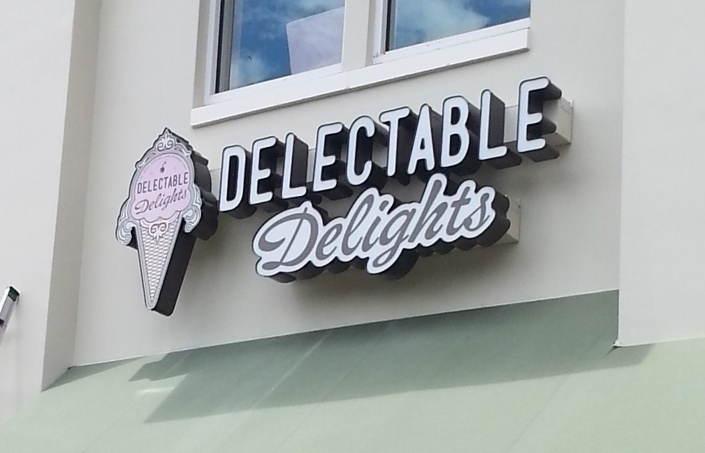 Delectable Delights Storefront Sign