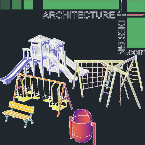 Outdoor Furniture 2d Cad Blocks