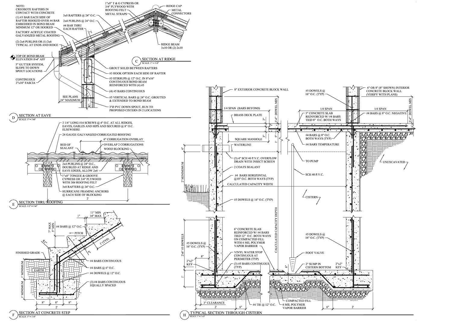 Section Drawings Including Details Examples