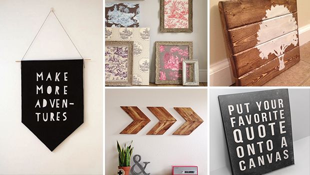 15 Extremely Easy DIY Wall Art Ideas For The Non-Skilled