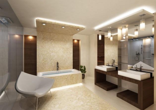 17 Extravagant Bathroom Ceiling Designs That You'll Fall