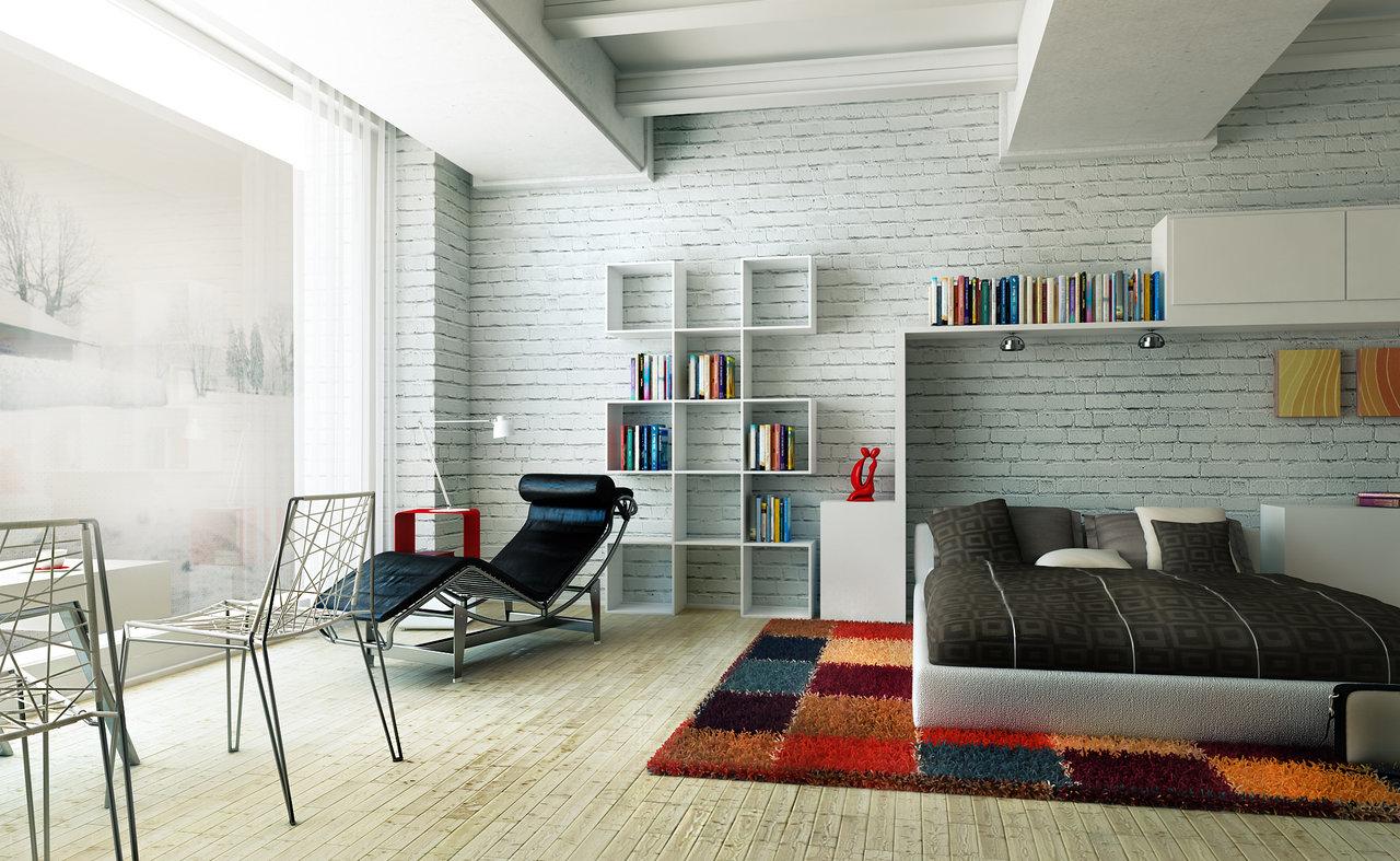 16 White Brick Wall Interior Designs To Enter Elegance In