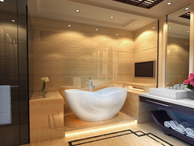 18 Luxury Bathroom Designs With Freestanding Bathtub