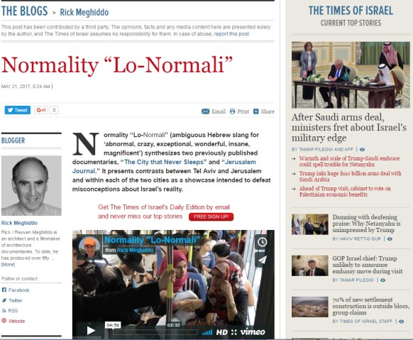 The Times of Israel - Normality Lo-Normali