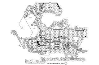 "Hanna House, ""Honeycomb"" Plan, Stanford, CA, 1937-1962."