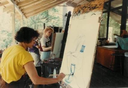 Ruth in Joseph Mugnaini's class, ISOMATA.