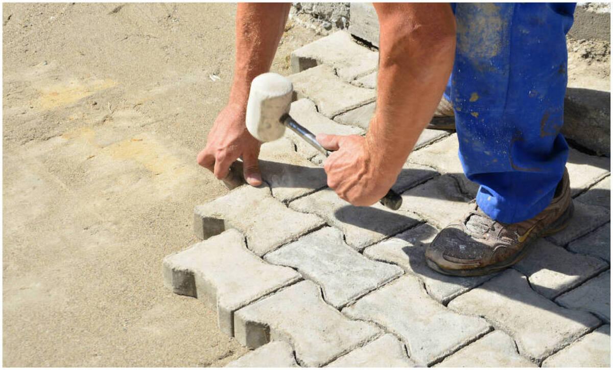 la brique comme pave pour bordure
