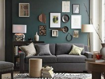 Artistic Wall Frames With Grey Couch For Modern Living Room Ideas With Zebra Printed Carpet