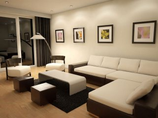 Beautiful Living Room Paint Idea With White Wall Paint Color And Two Tone
