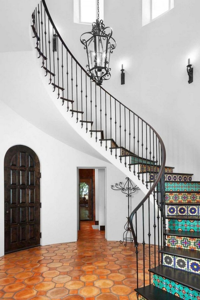 Beautiful And Simple Designs Mosaic Tiles With Morrocan Stairs Entryway