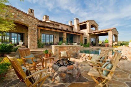Italian Farmhouse Mediterranean Patio