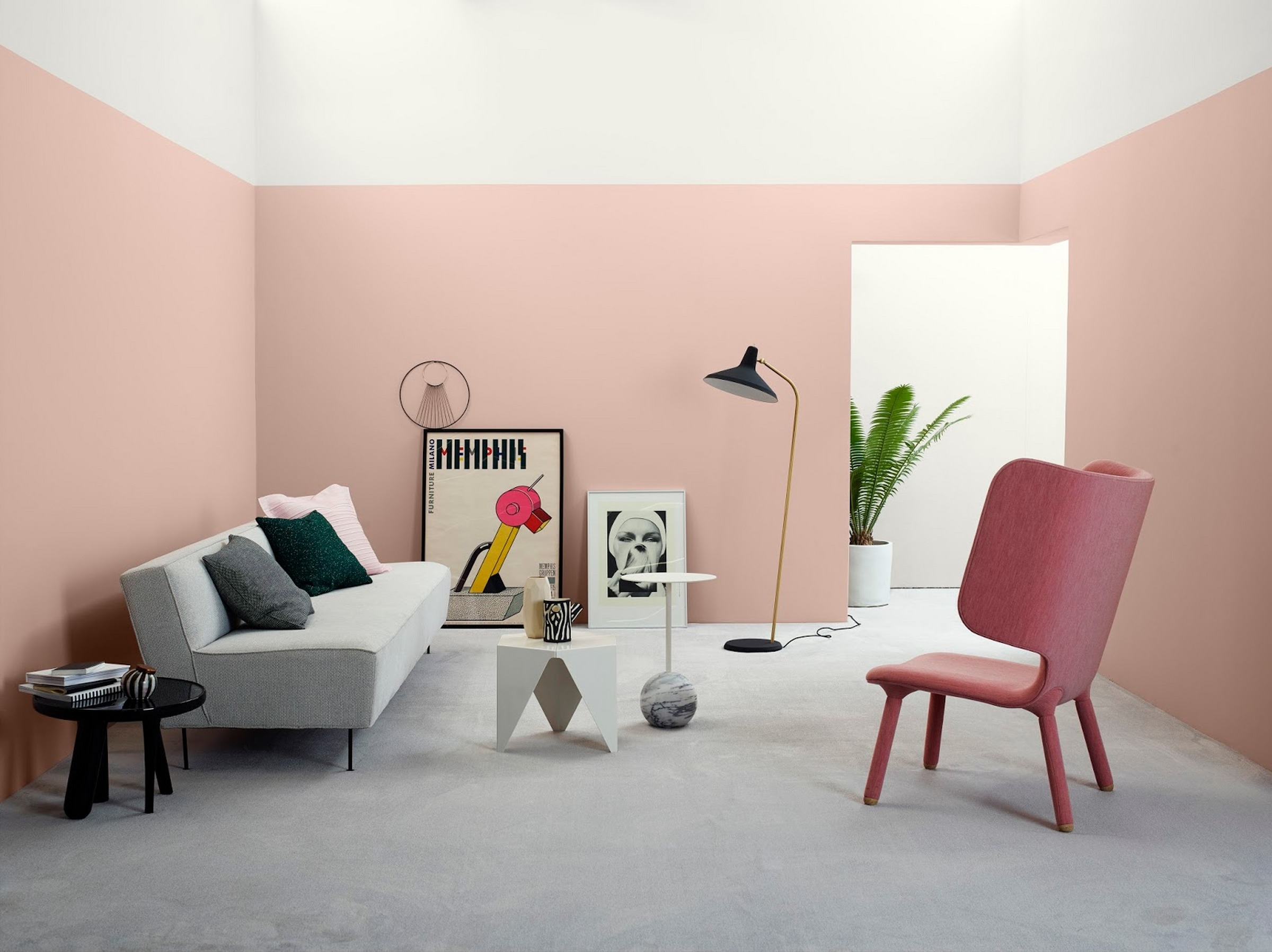 Wall Colour Inspiration: Pastel Pink Wall Paint Color Trends For 2017