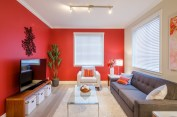 Red Colour Schemes For Living Rooms