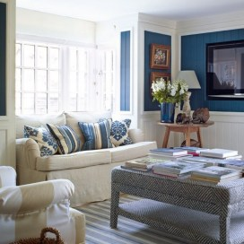 Small Living Room Ideas Blue And White Colour Combinations For Your Inspiration