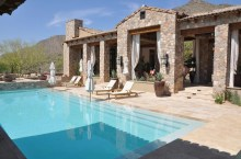 Travertine Exterior Paver Swimming Pool