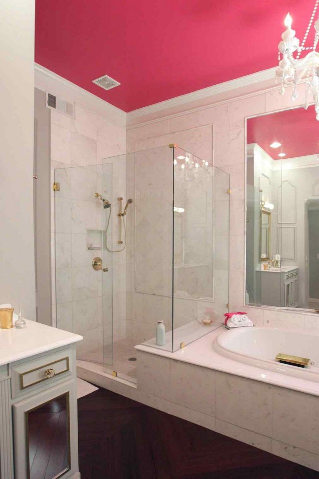 Light Color Effect Ceiling Pink Bathroom Designs Ideas More Saved Betty Crafter Small Decorating