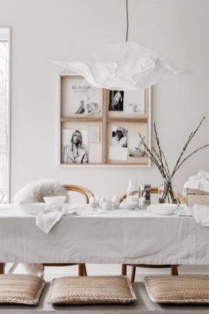 A Natural Style Easter Table Setting For Dining Room