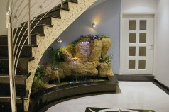 Awesome Fish Pond Under Staircase
