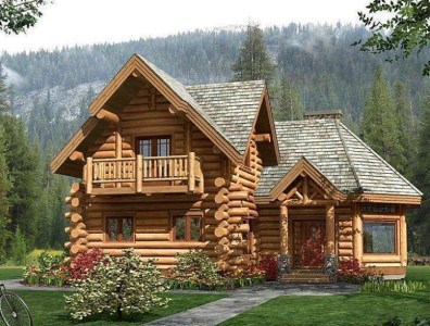 Beautiful Log Home Design