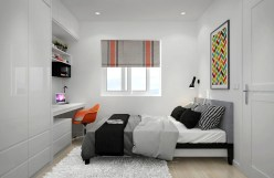 Color Selection For Bedroom Design Ideas With Narrow Space Small Bedroom Design