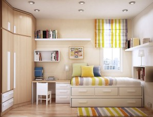 Colorful Bedroom Design For Small Spaces