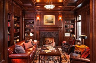 Home Library Design Ideas (59)