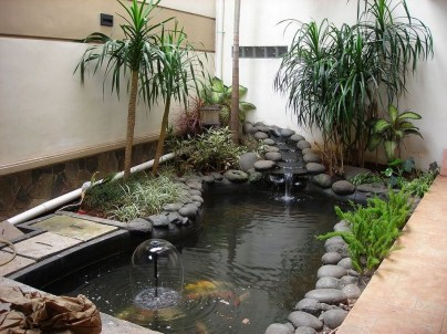 Inspirations Modern Indoor Fish Pond Design To Decoration Your Home Indoor