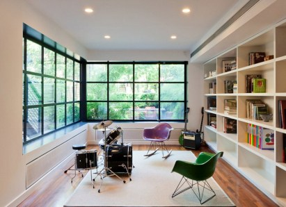 Large Windows For Private Music Studio At Home