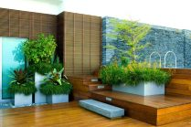 Multi Level Tub for Make a Beautiful and Attractive Rooftop Garden