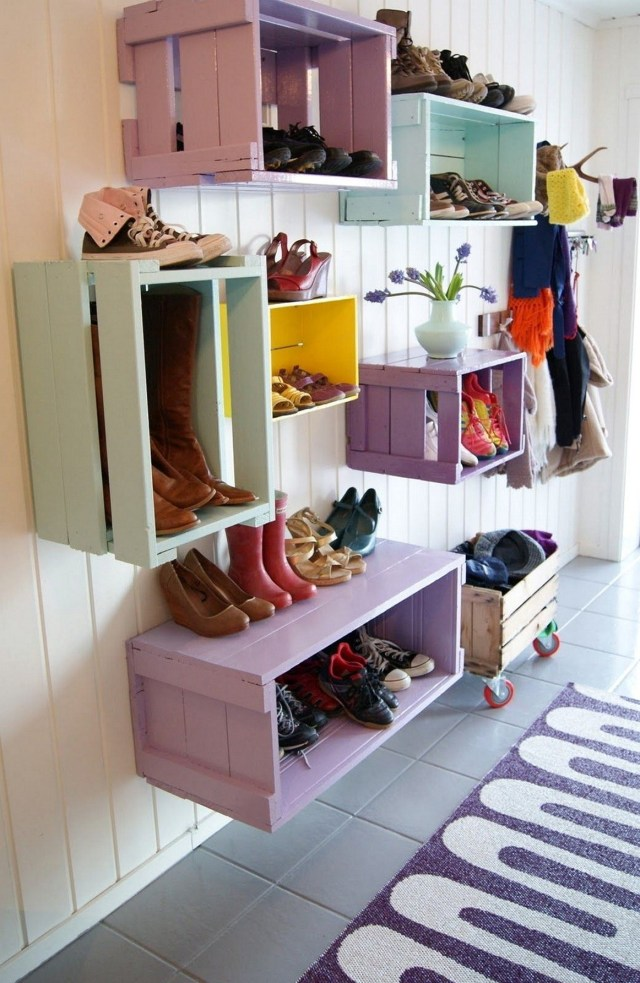 Shoe Rack With Colorful Shoe Rack For Home Back Porch Design Ideas