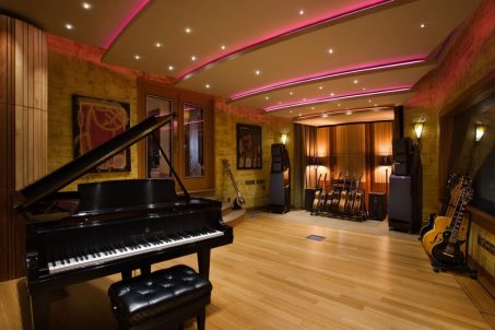 Unique Ceiling for Private Music Studio at Home