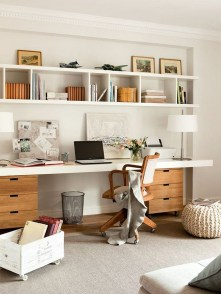 Unique And Comfortable Home Office Design Ideas (175)