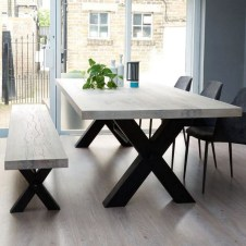 Wooden Table And Chairs For Dining Room Of Natural Style Home