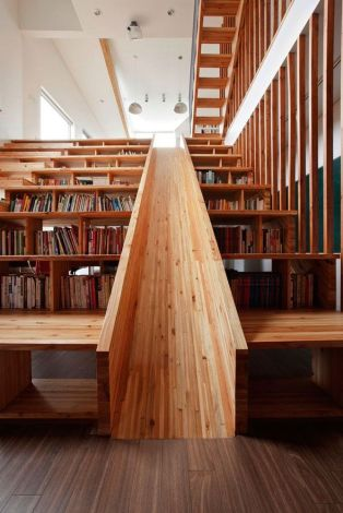 Bookshelf Under the Stairs for Unique Library at Home