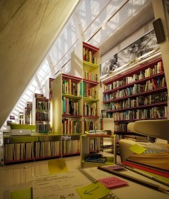Lighting for Unique Library at Home
