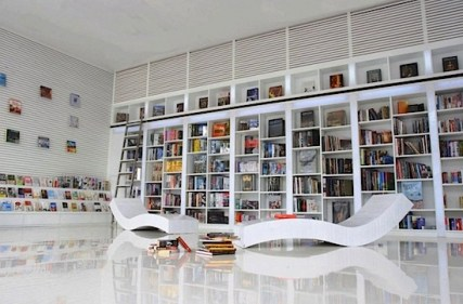 Vertical Bookshelf for Unique Library at Home