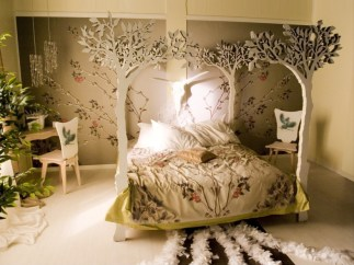 Tree Bed for Bedroom of Natural Style Home
