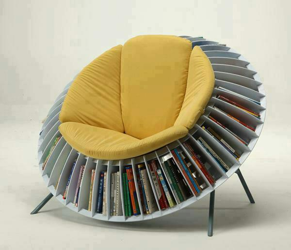Futuristic Sofa for Unique Library at Home