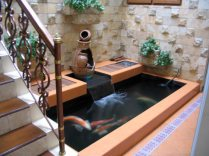 Stairs for Awesome Tips for Placing a Fish Pond in the Family Room