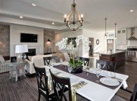 An Open Floor Plan Table Placement