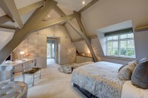 Attic Bedrooms Ideas With Large Window