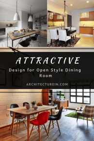 Attractive Design For Open Style Dining Room Ideas