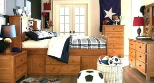 Bedroom Ideas For Teenage Boys With Some Soccer Accessories