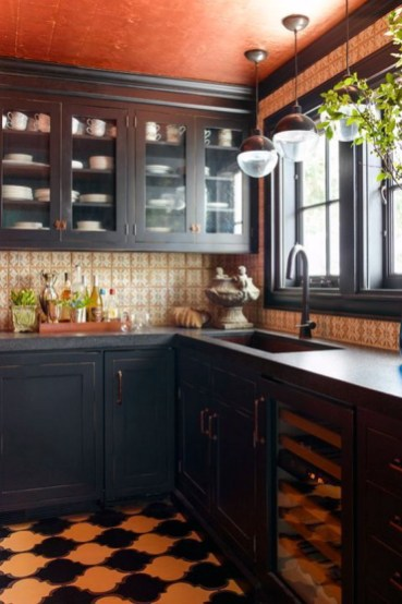 Brilliant Natural Dark Wood Small Kitchen Ideas