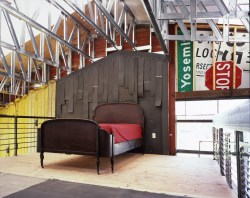Ceiling Exposure for Awesome Industrial Bedroom Inspiration