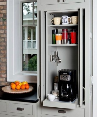 Coffee Shop In Kitchen Set Cabinet