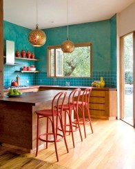 Colorful Brown Kitchen Design Ideas