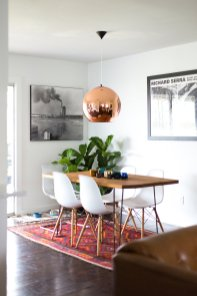 Dining Room for Utilization of Corner Space in the House