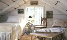 Farmhouse Attic Bedroom Small Natural Light